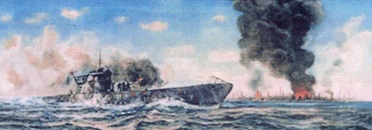 Illustration of the Uboat attack upon Aruba