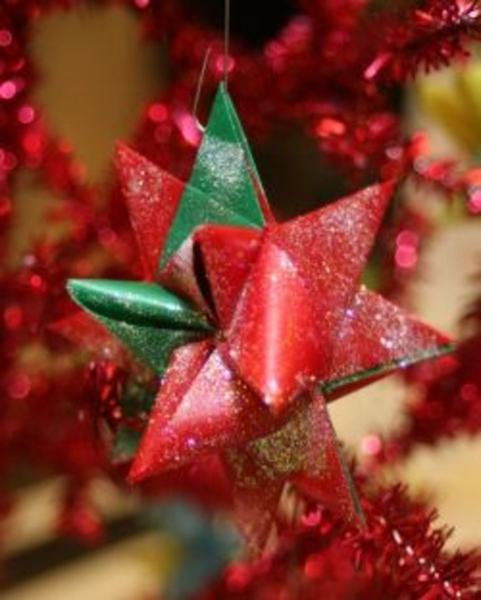 Handmade German Star Ornaments