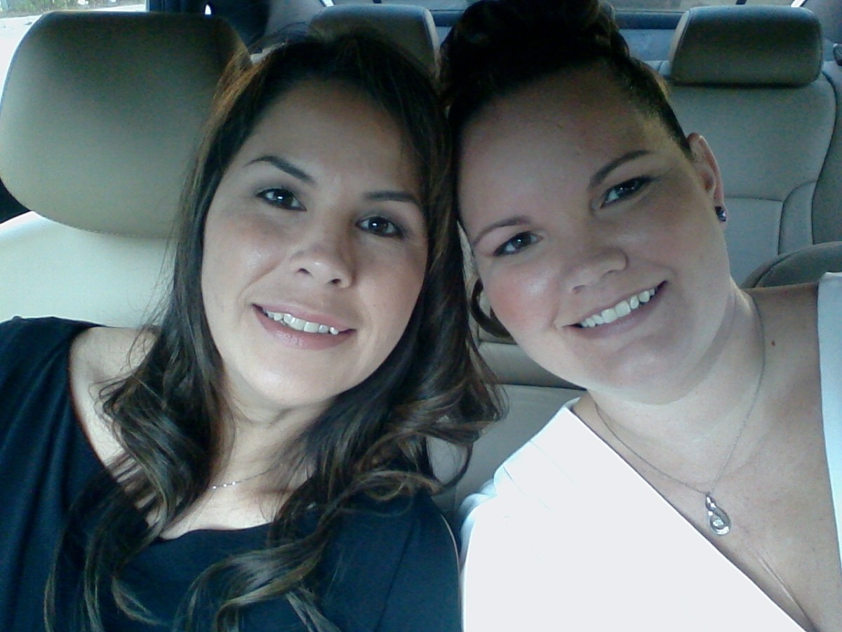 My best friend of over 10 years and I.  I LOVE her just like a sister.