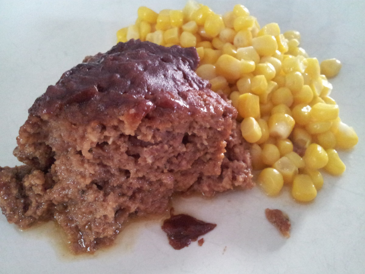 Finished product: Delicious and Moist Crock Pot Meatloaf