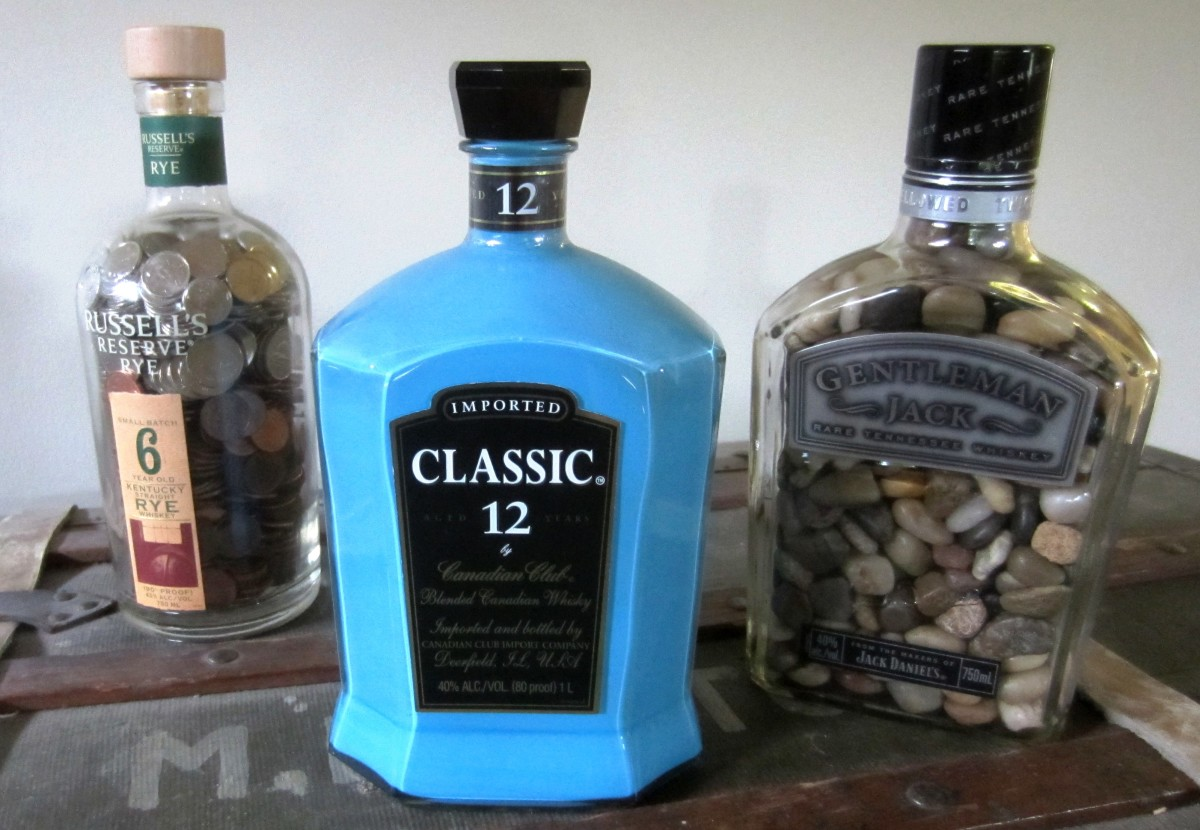 Cool Craft Ideas For Adults - Whiskey Bottles