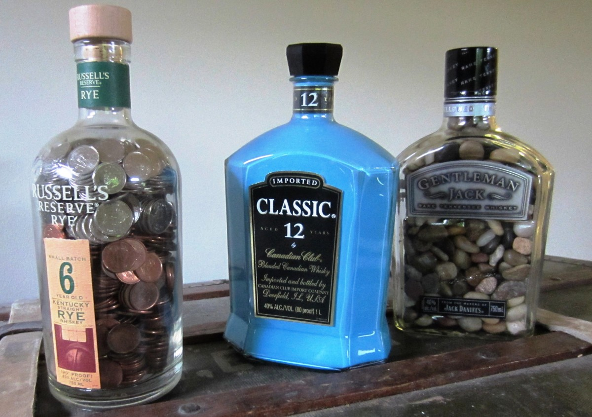 cool craft ideas for adults whiskey bottles