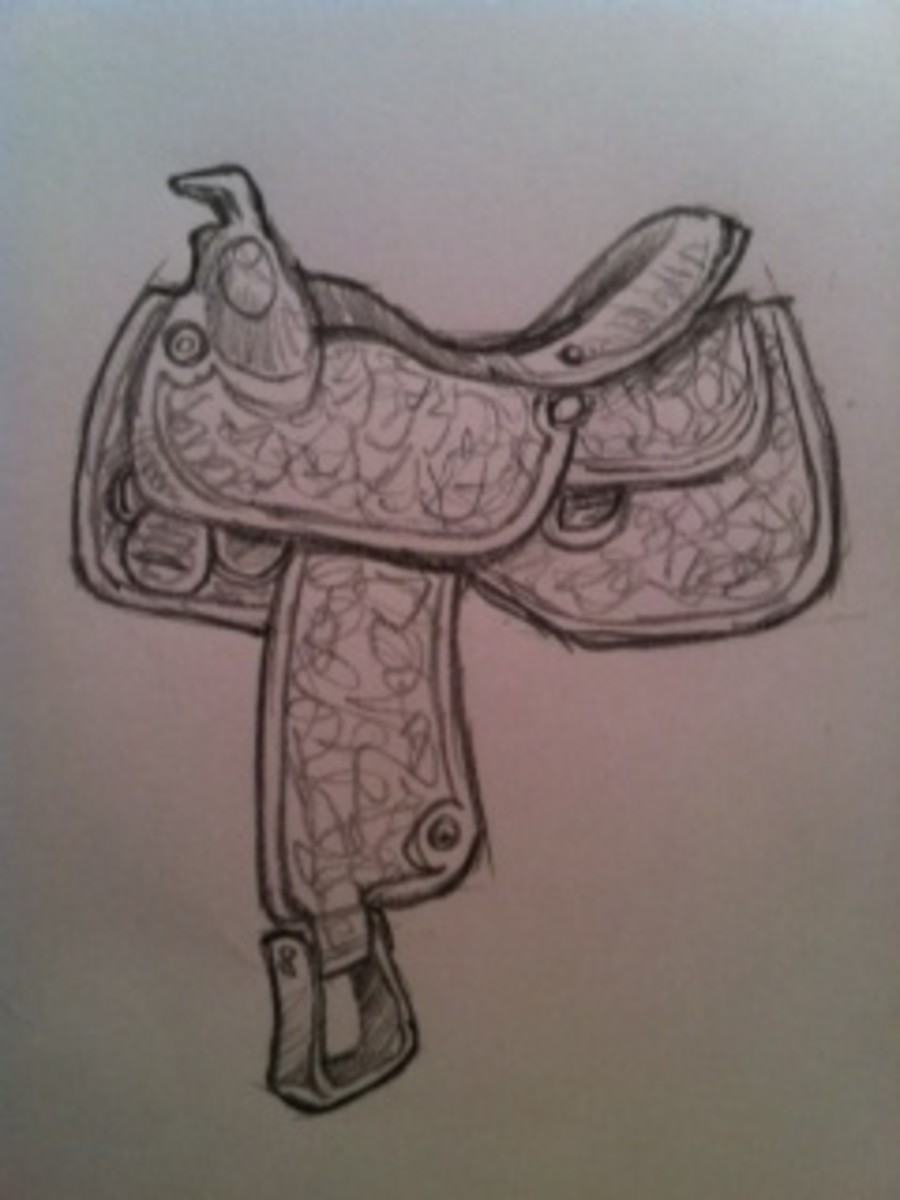 Learn how to draw a saddle like this one by following this drawing tutorial.