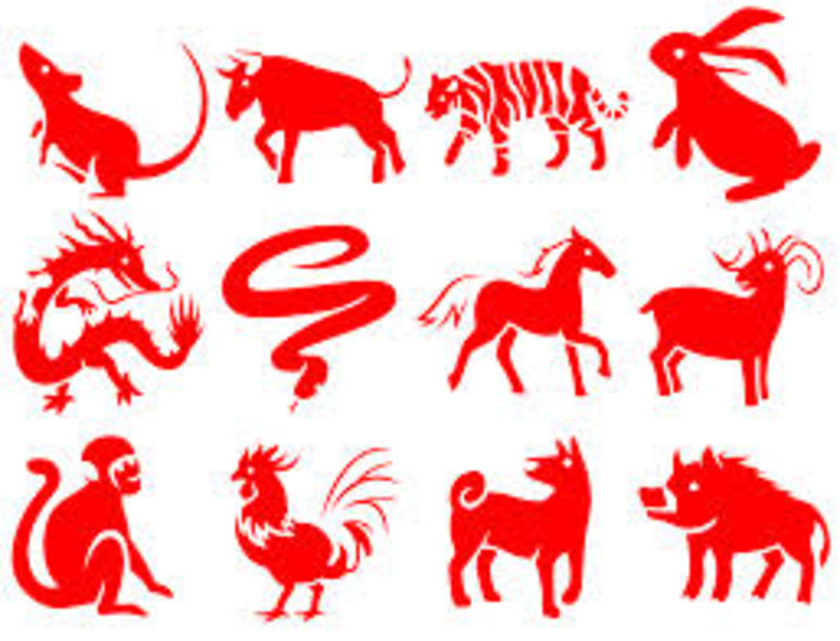 The beautiful paper-cuttings of the 12 Chinese Zodiac Animals