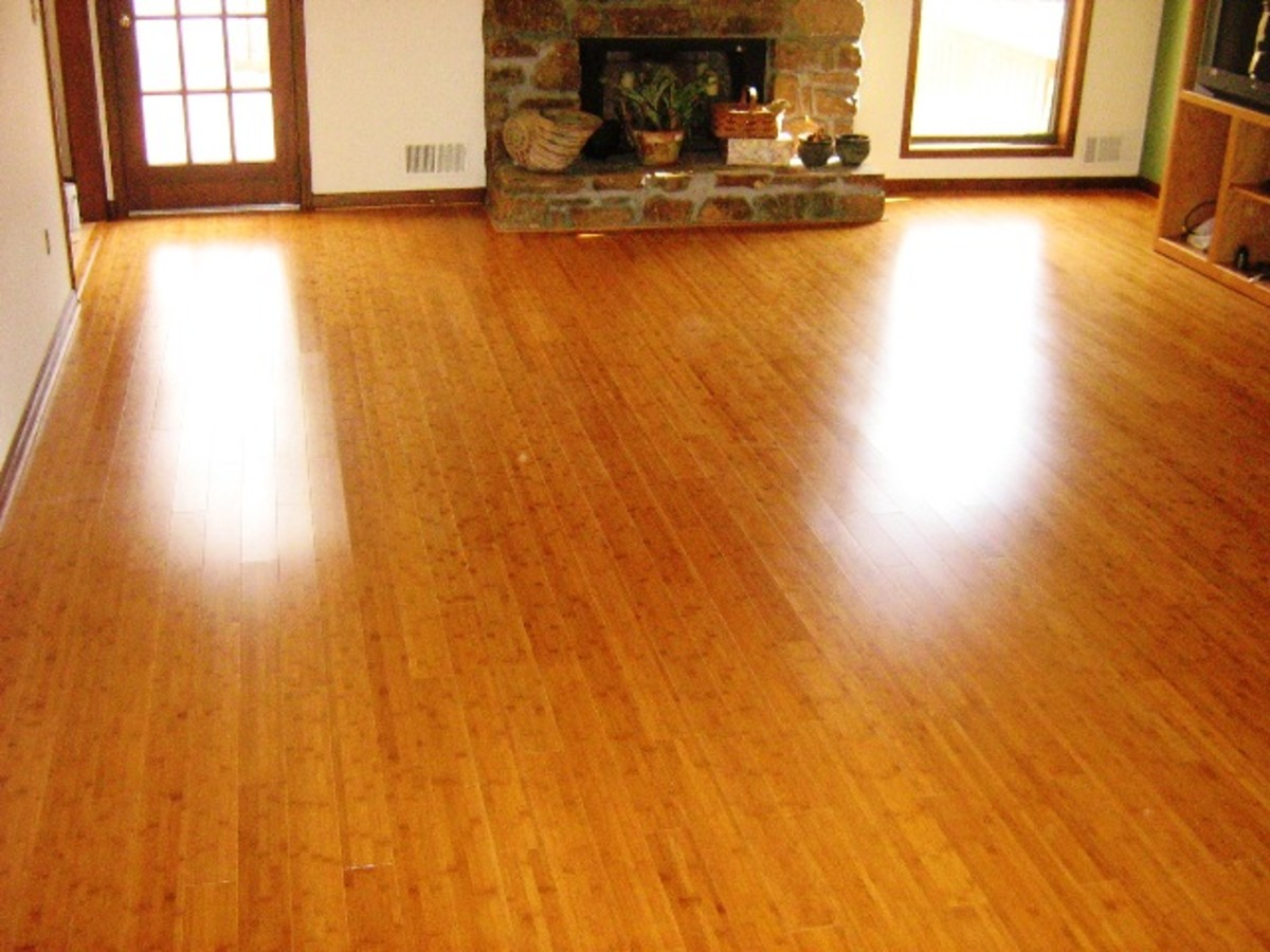 This floor looks as good as any wooden floor.