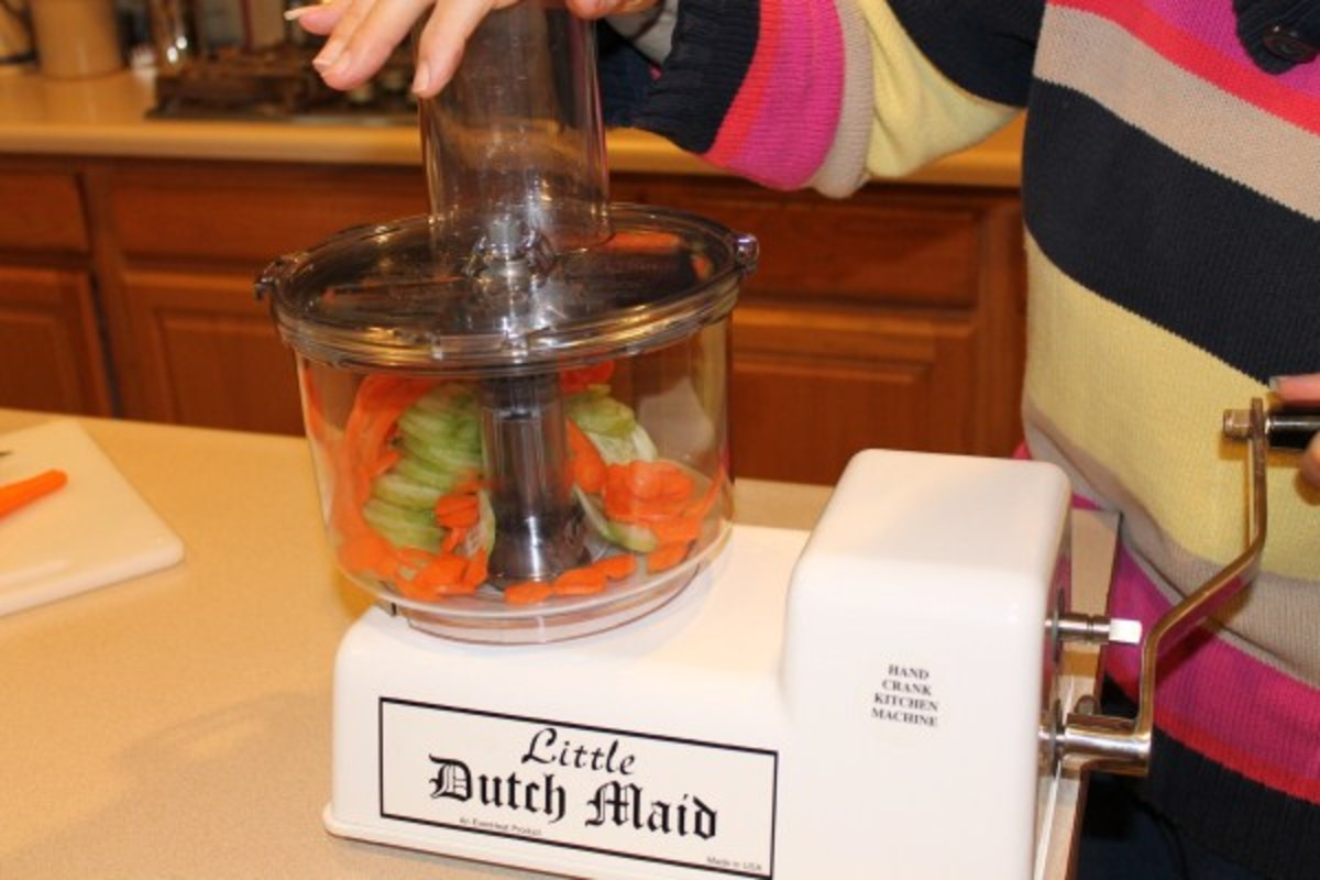 Slicing Vegetables with the Little Dutch Maid Mixer