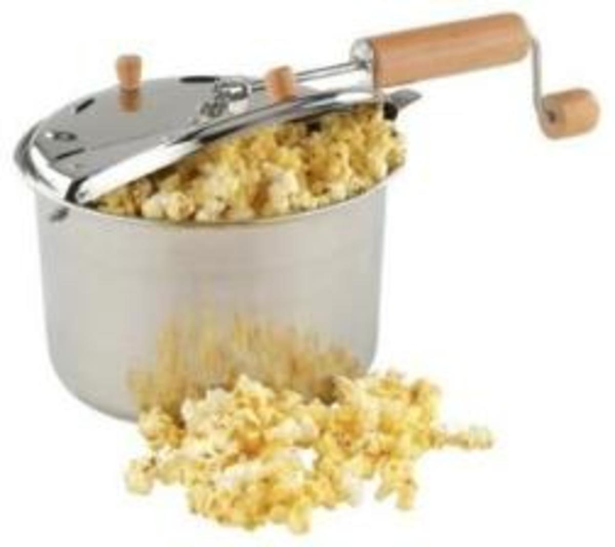 Hand Crank Popcorn Maker