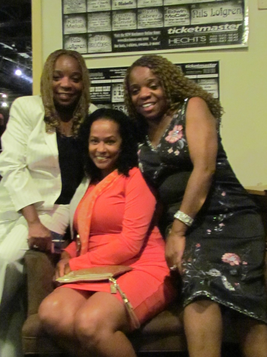 My twin sister Paulette and I, join Edna Alston, the beautiful wife of Gerald.
