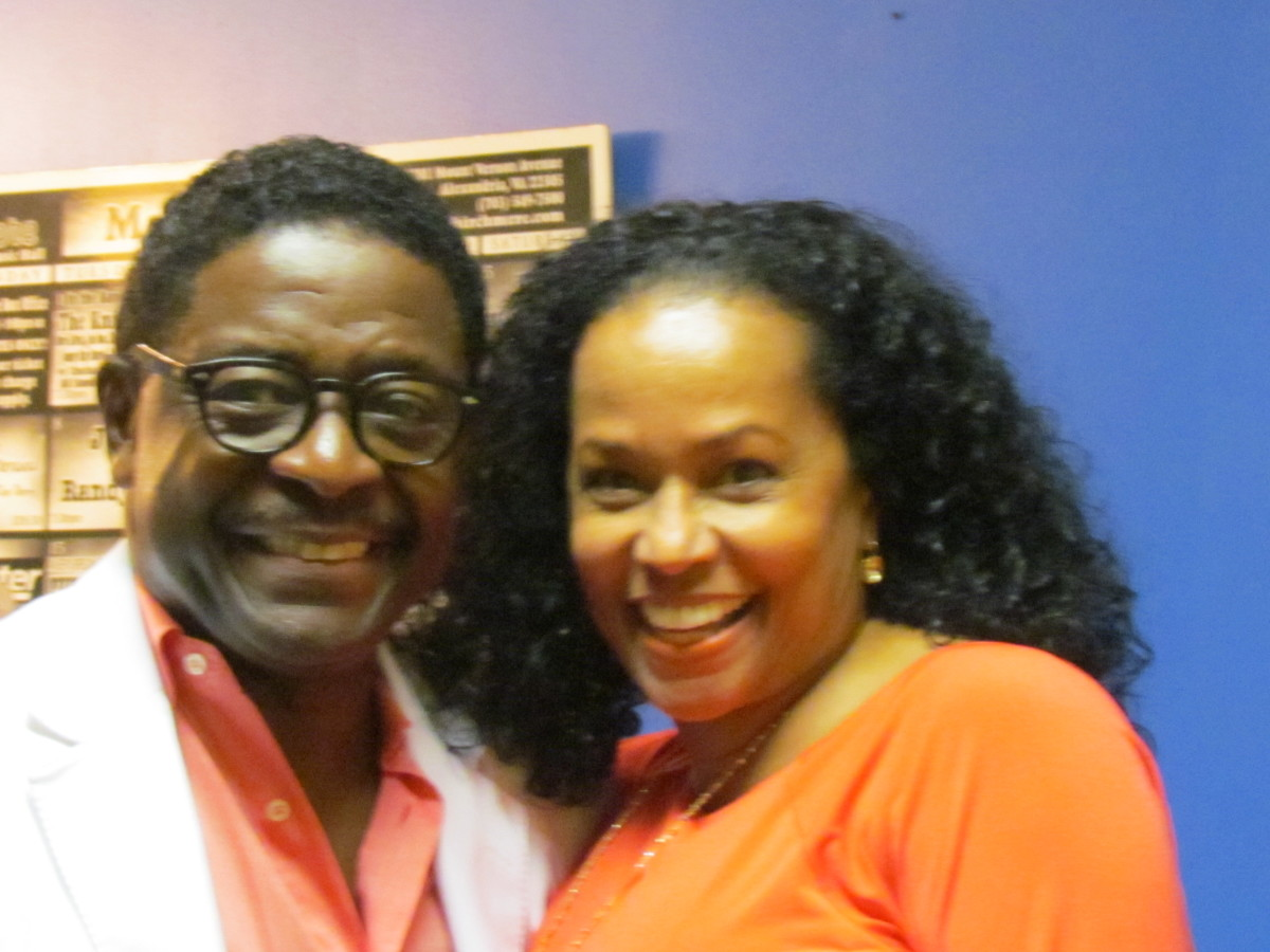 Gerald Alston, with his wife Edna pose for a photo after the show. They have been married more than thirty years.