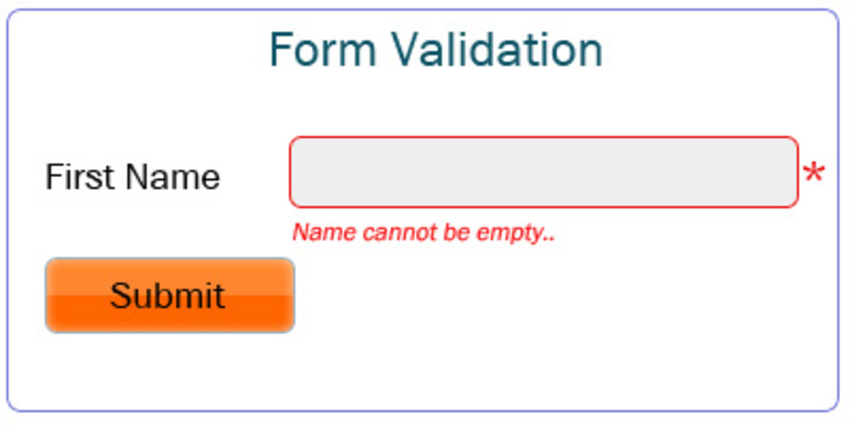 Validation for empty strings