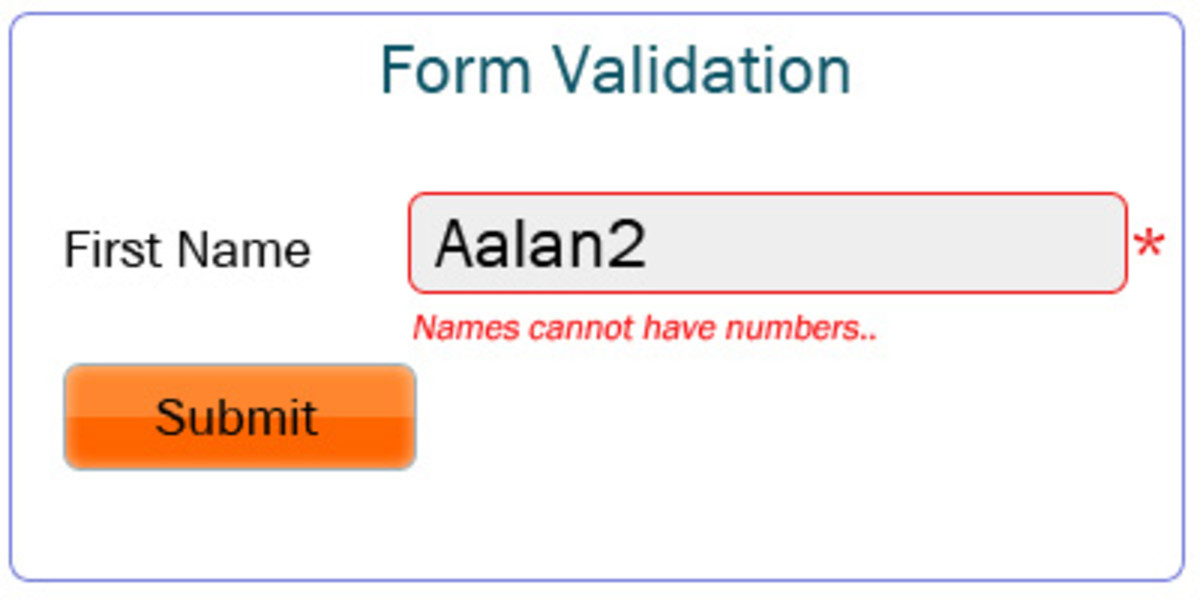 Validation for numbers