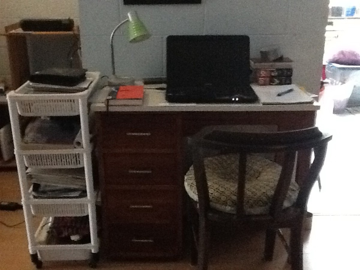 The desk where I do most of my writing