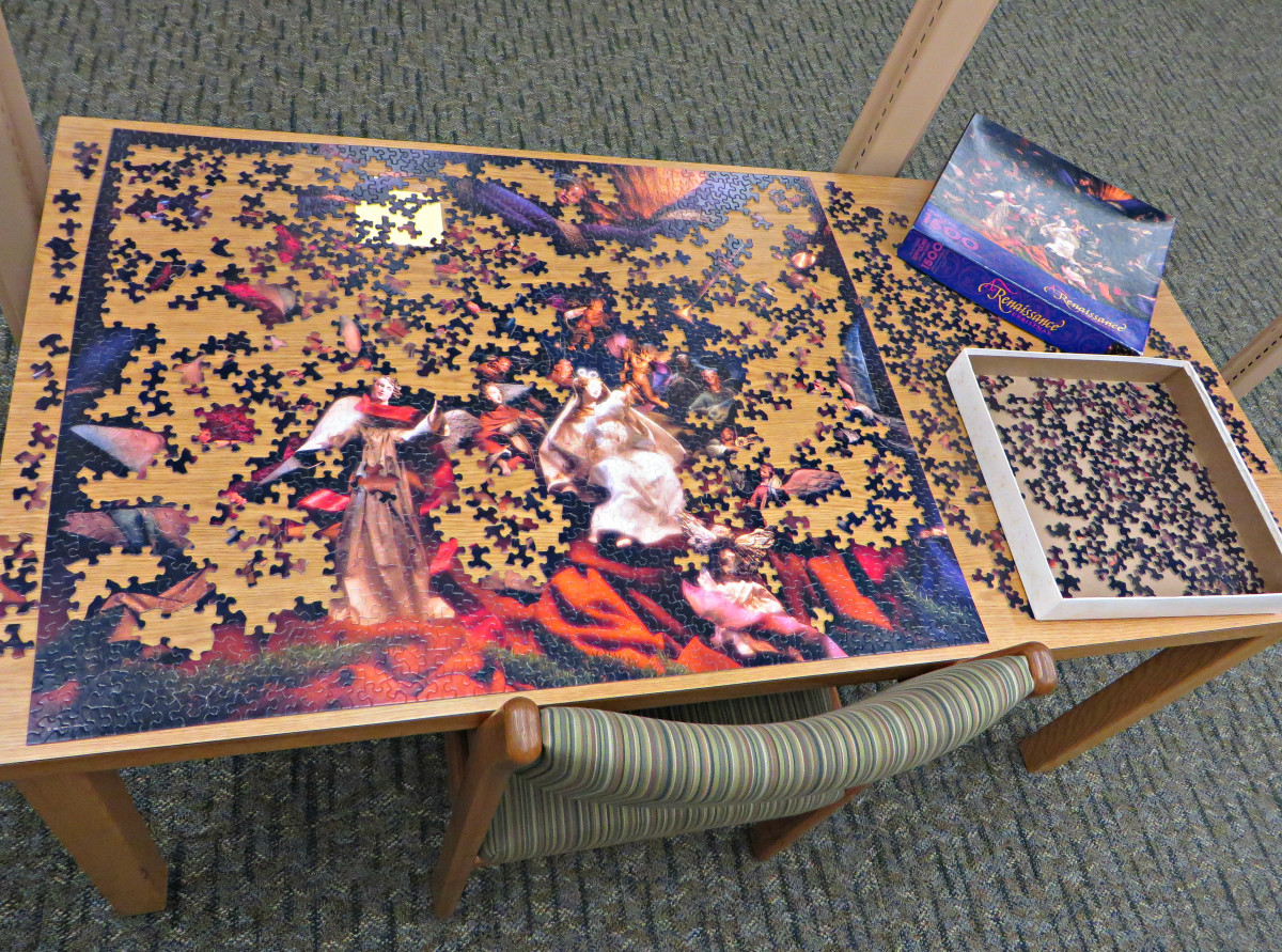 They are even now putting these puzzles out in many University Libraries to help students stress levels, and they are really being used, and loved by the patrons. They really help folks to unwind and they stimulate the mind.
