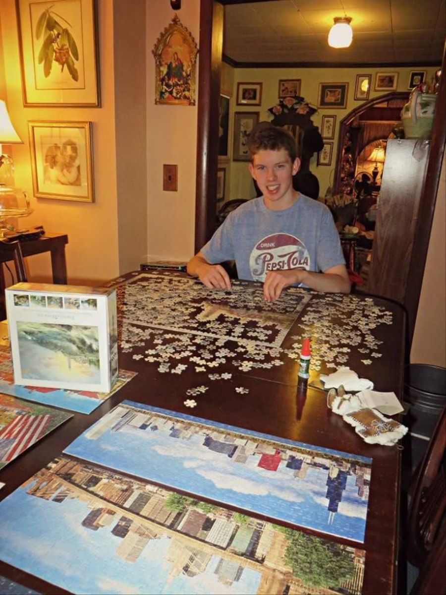Jigsaw puzzles help your thinking  process, and problem solving abilities, and is a very relaxing hobby the whole family can participate in and have a bonding experience.