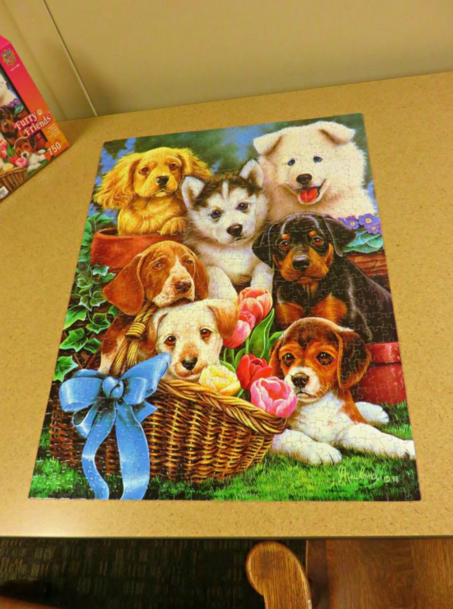 Furry Friends. Puppy Pals, is finished, 750 pieces, by Master Pieces,