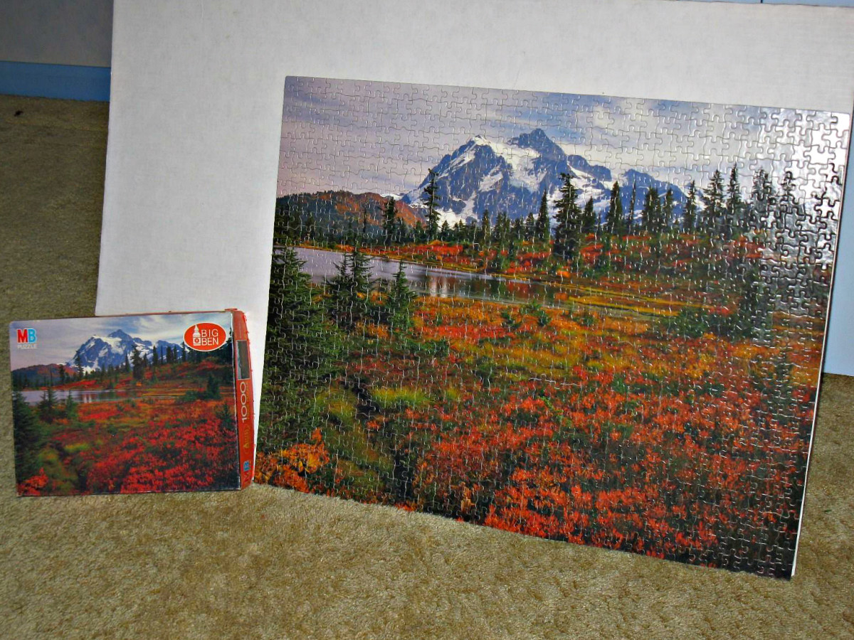 "Big Ben Jigsaw Puzzle of Mt Shuksan in the state of Washington #4962-6. Made in the USA. Ages 12- Adult. Size: 26"" x 20"" 1000 piece interlocking beauty ..."