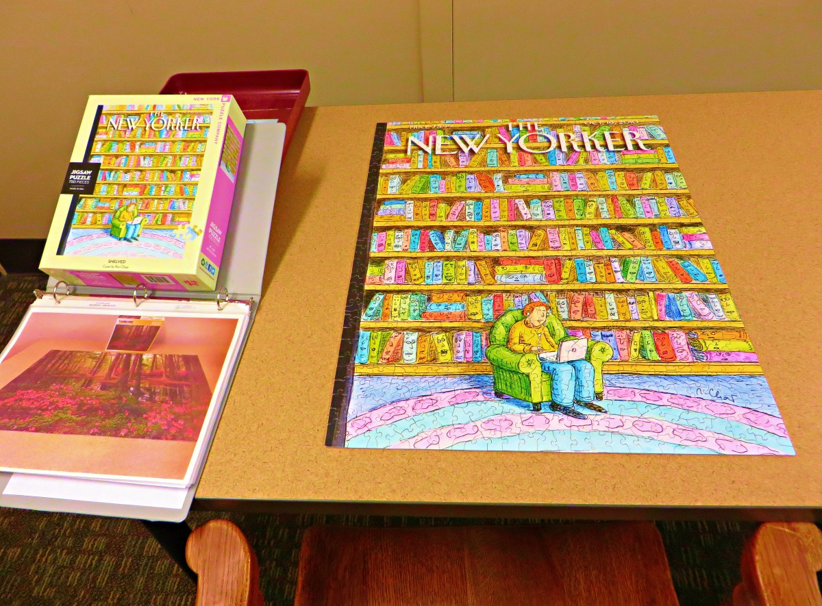 Another Masterpiece completed ...  The New Yorker, 750 pieces