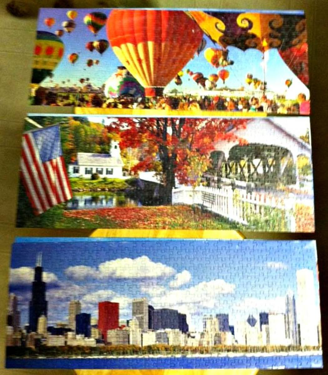 Jigsaw Puzzles are great fun when you need a vacation but are broke because you can see the world from the comfort of you dining room or kitchen table when you are working on these remarkable creations