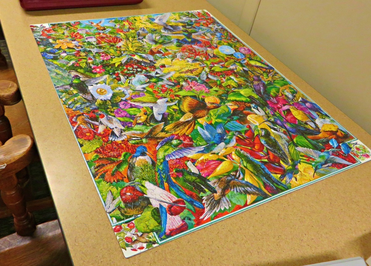 Hummingbirds How Many Can You Find 1000 Piece Puzzle White Mountain, Made in the USA, Fun Hobby …