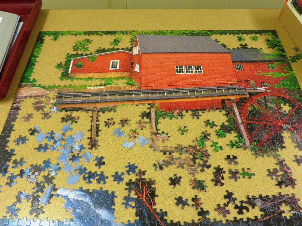 Another Masterpiece Being Created, Rustic Red Mil, Jigsaw Puzzle