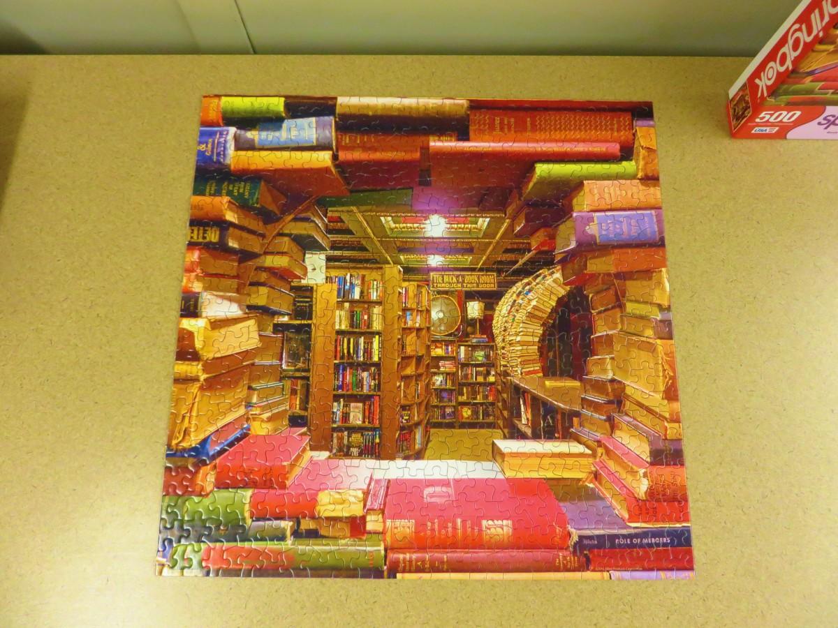 Book Shop, Springbok 500 Piece Jigsaw Puzzle