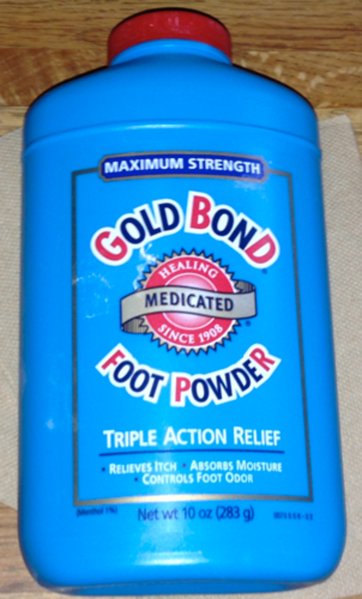 It doesn't really matter what kind of powder you use, so long as you wash it all off.