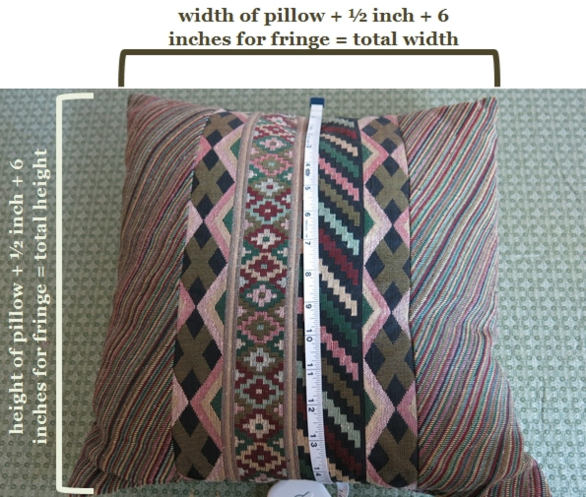 Instructions for making a no-sew holiday pillow