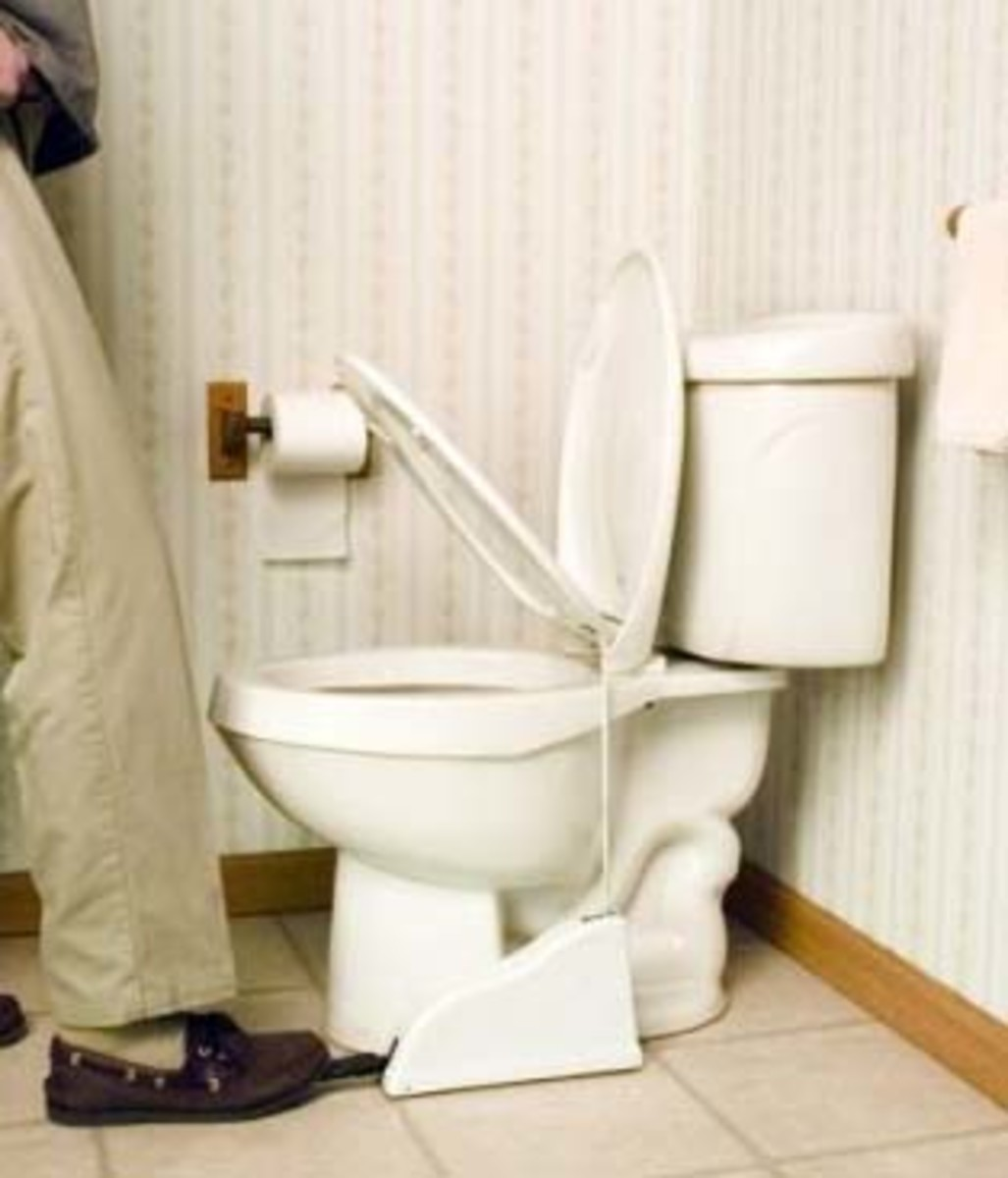Battle of the toilet seat, Whose to be blame, Solution:  Available on Amazon: Toilet Seat Lifter.