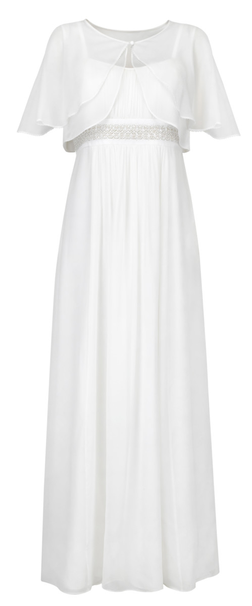 Very nice maxi wedding dress.  I love the delicate detials!