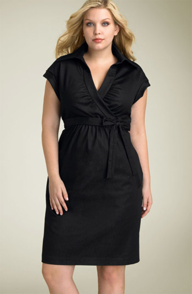 This is AWESOME for apple shapes!  The waistline is a little bit higher and the fabric is close but not tight.