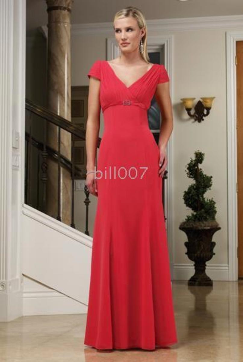Column prom dress.