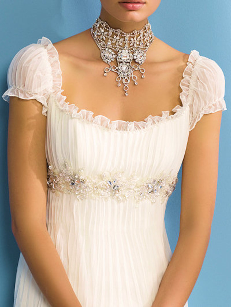 Empire dresses are very popular for weddings.