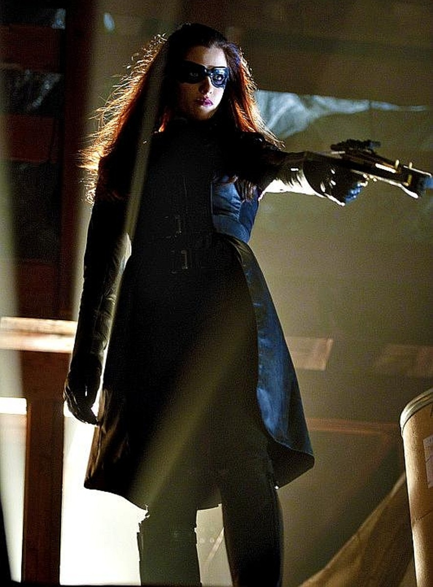 Jessica De Gouw as the Huntress on Arrow