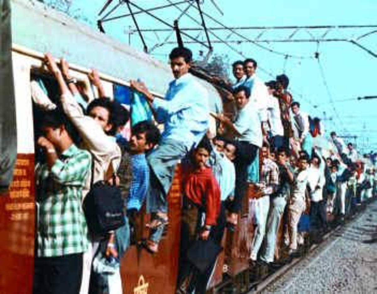People hanging with this local train in MUMBAI are not trying to attempt a Guinness world record, It is part of their daily life.