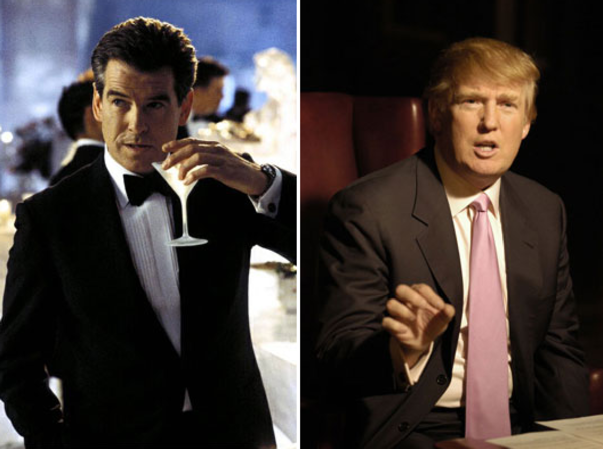 007 AND DONALD TRUMP IN BRIONI SUITS
