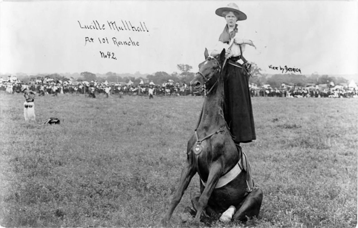Lucille Mulhal, first show cowgirl