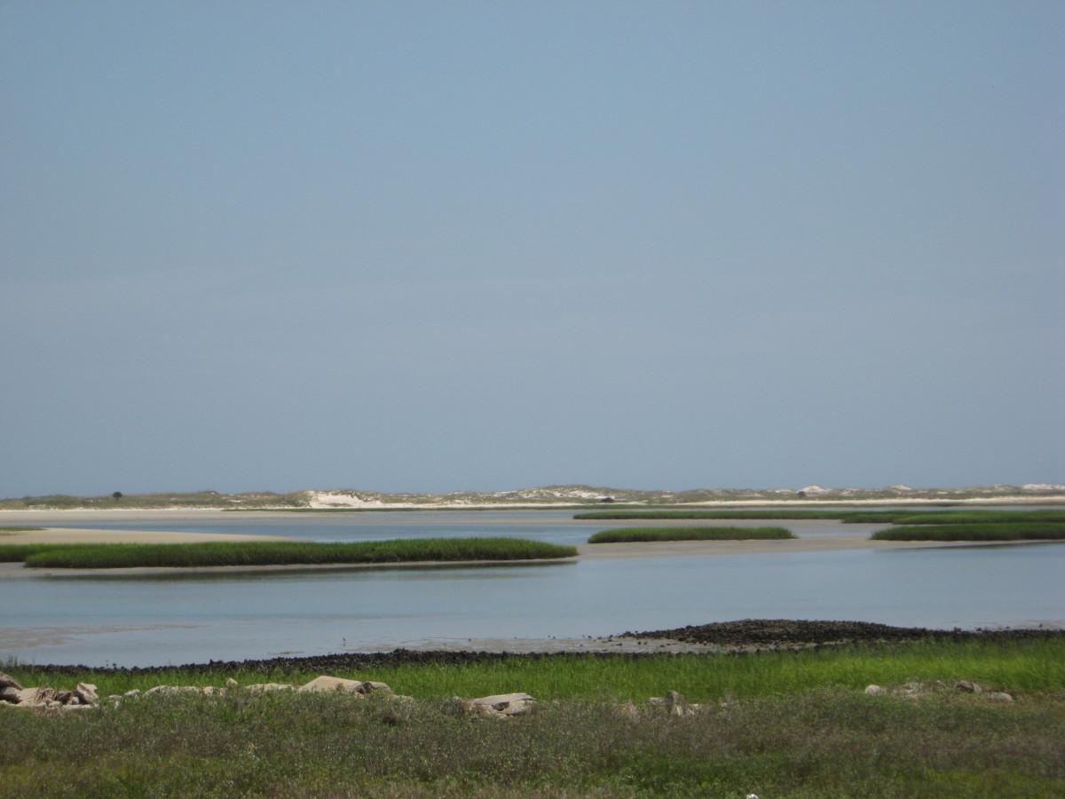 little islands and sandbars