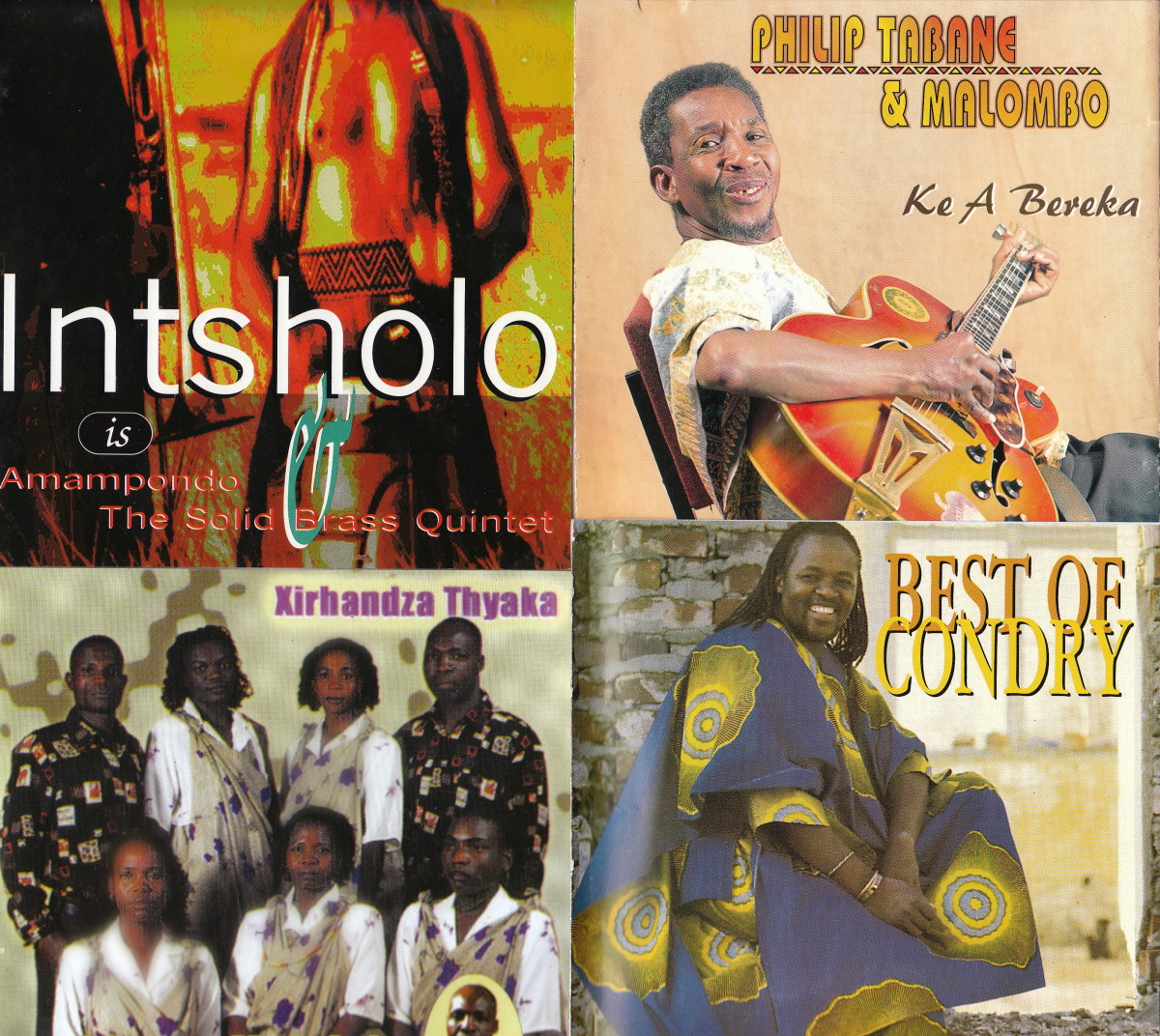 Intsholo-Amampondo; Phillip Tabane; George Maluleke na va N'wanati Sisters; Best of Condry Ziqubu