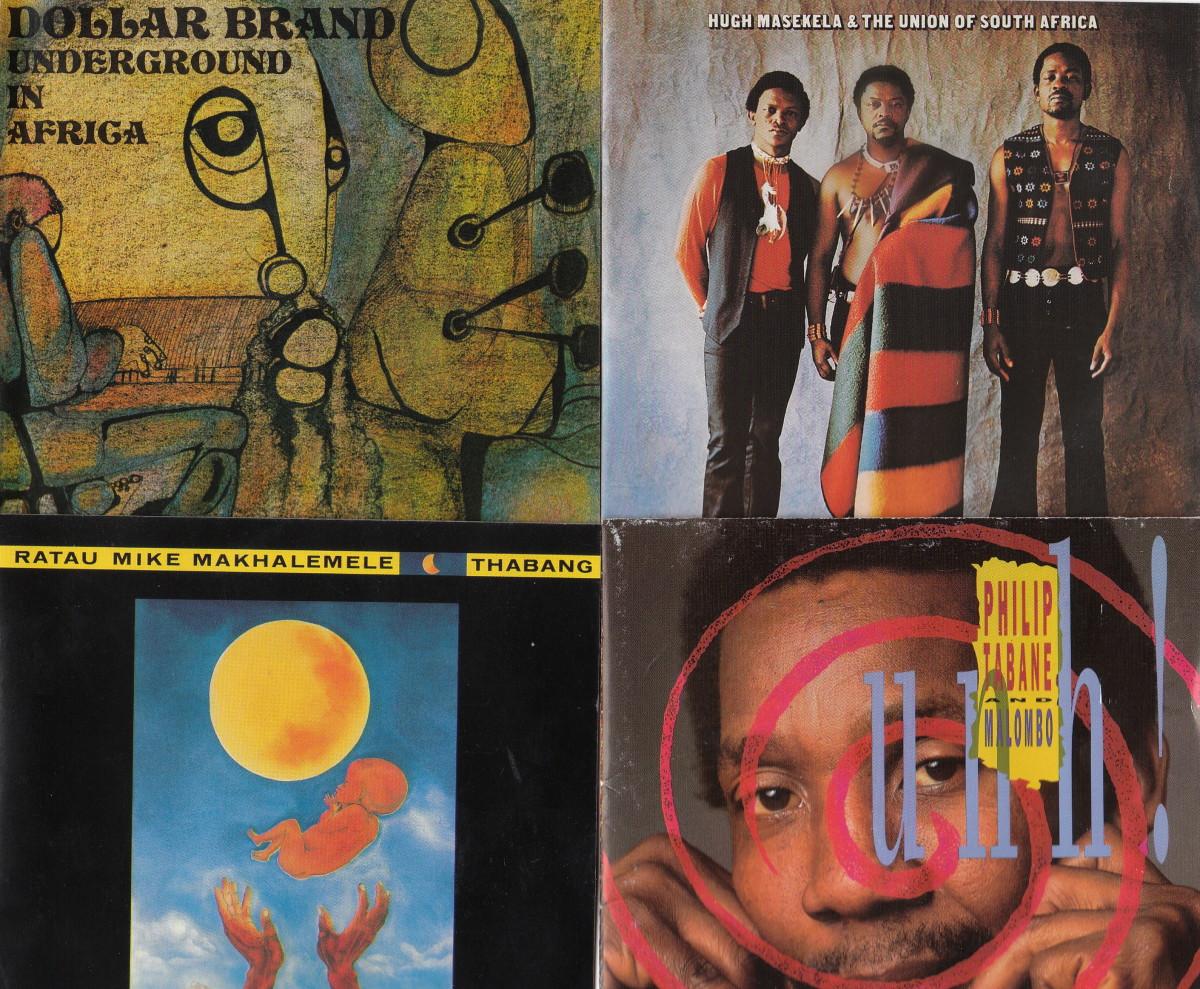 Dollar Brand(Abdul Ibrahim); Hugh Masekela, Jonas Gwangwa and Caiphus Semenya in The Union of South Africa; Mike Makhalemele; Phillip Tabane