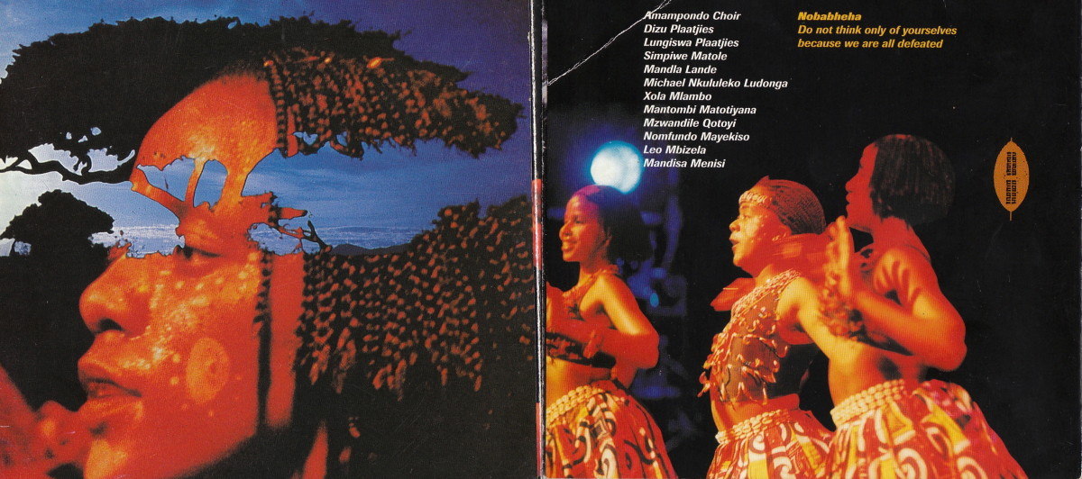 The rhythms and musical vibes of Amampondo group and these are their background singers and their names are listed on the photo.