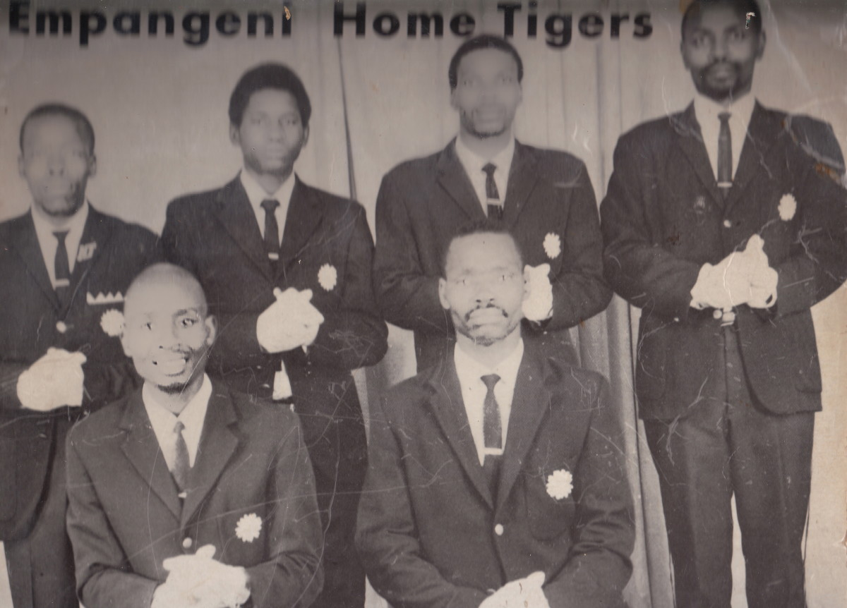 "Empangeni Home Tigers in their 1974 Album Which was and still is a hit with the African People called ""Ufakazi Yibheshu""(The Witness is the  Bheshu)"""
