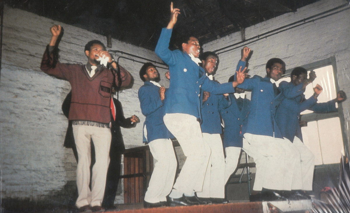 Mbube Group in full action. some other groups were Mtwalume Young Ages, Mkhizwane Home Stars and Jabula Home Defenders