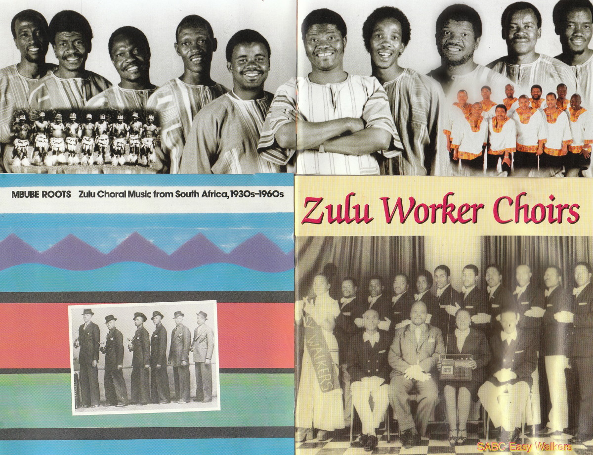 Grouped together in this phots are the Ladymith Blackmambazo on top and other various groups below