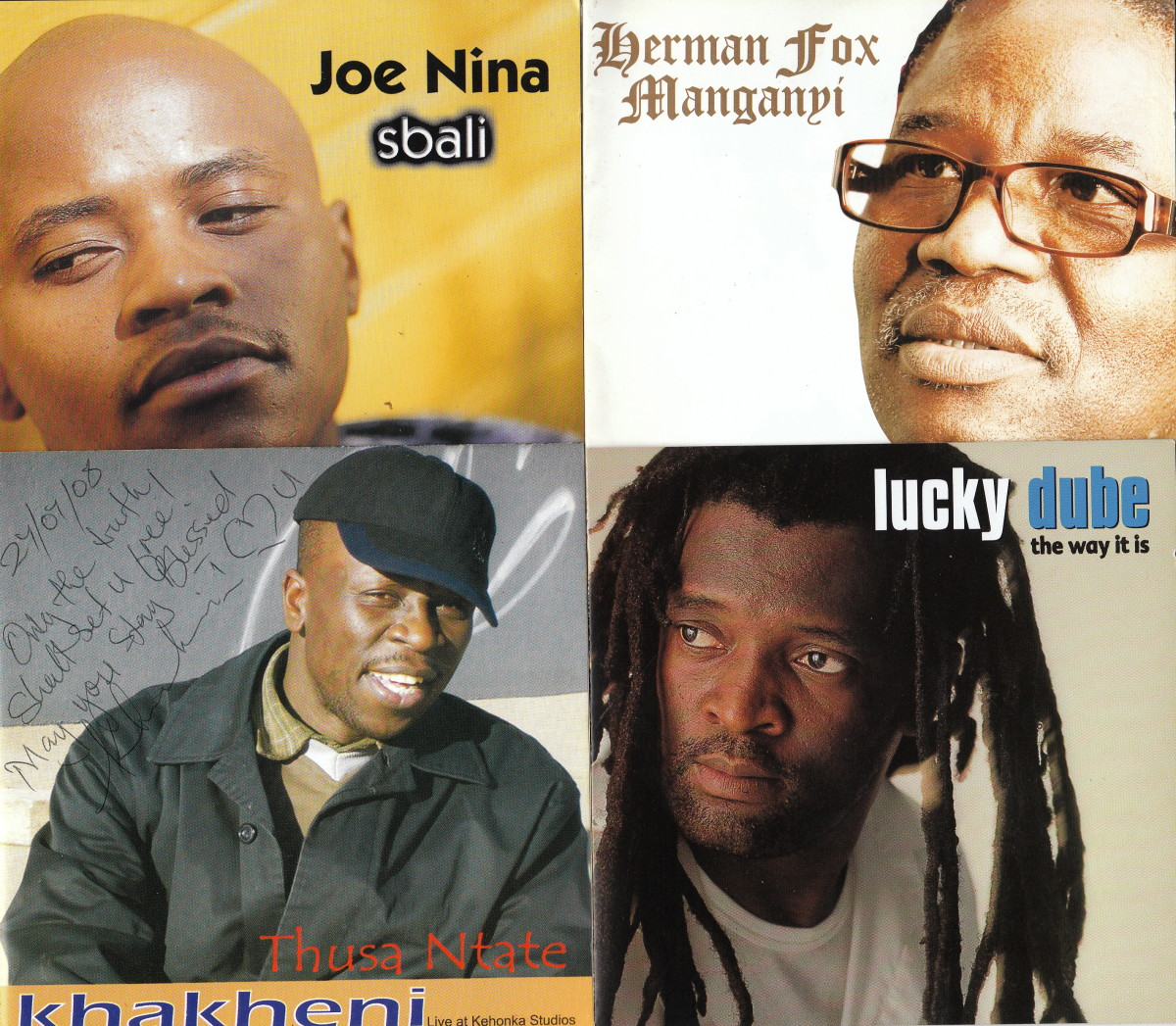 Joe Nina, Herna fox Manganyi, Khakheni and Lucky Dube