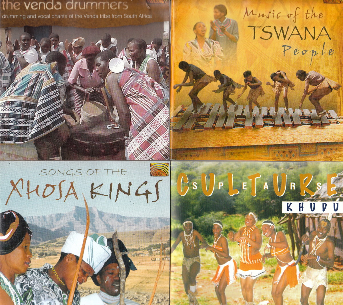 The Vend Drummers; Music of the Tswana Peoples; Xhosa Kings; Culture Spears