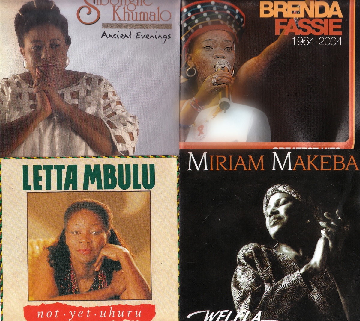 Sibongile Khumalo; Brenda Fassie; Letta Mbulu; Mirriam Makeba