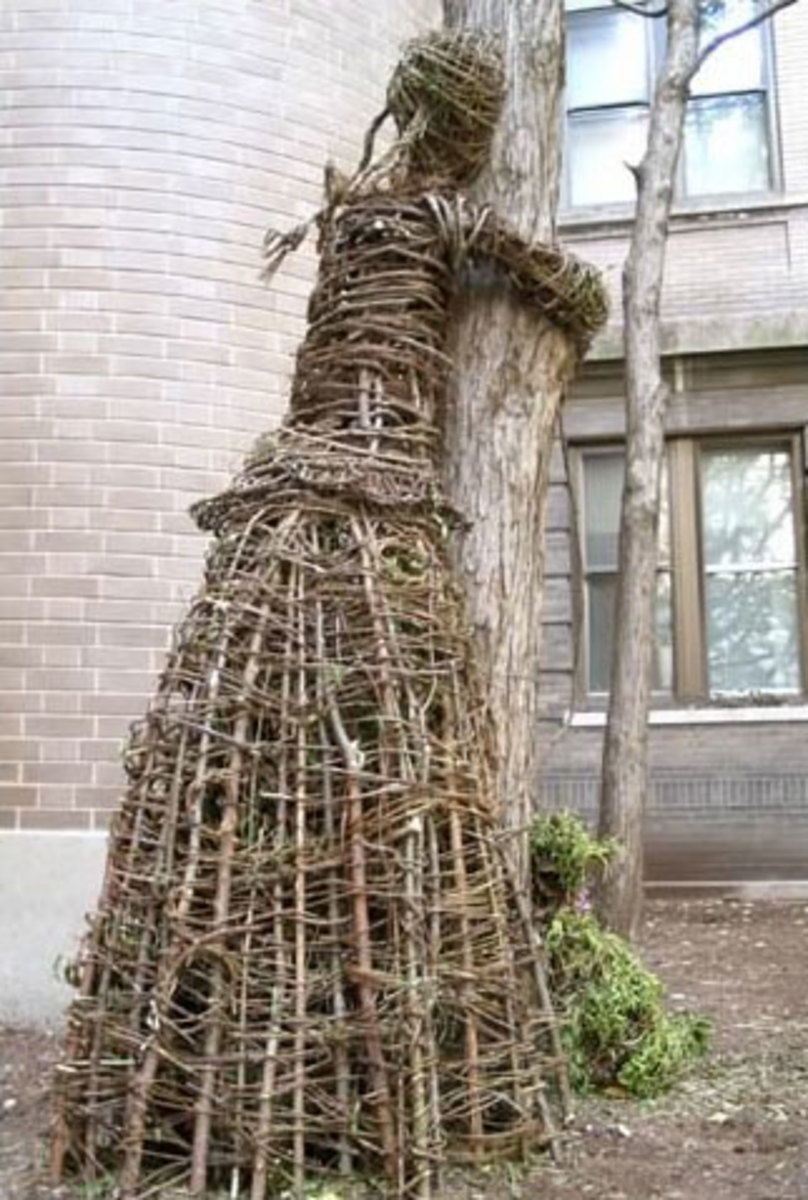 BUT THE BASKET WEAVER WASN'T DONE, AND JUST WHO MIGHT THIS BE?