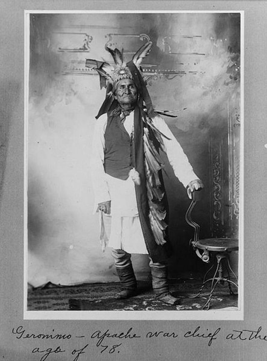 Geronimo: Apache war chief at the age of 78.