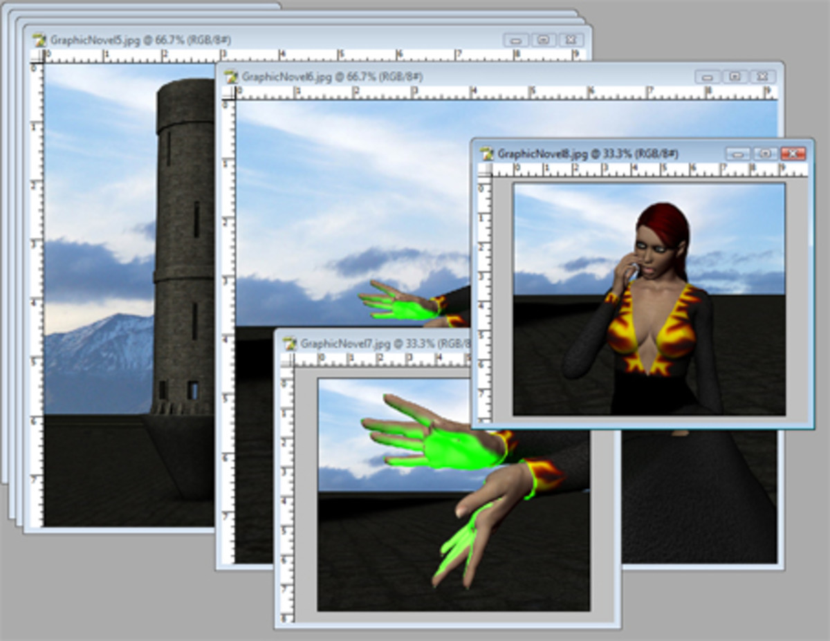 Since I can't draw people, I use DAZ Studio to render my art.