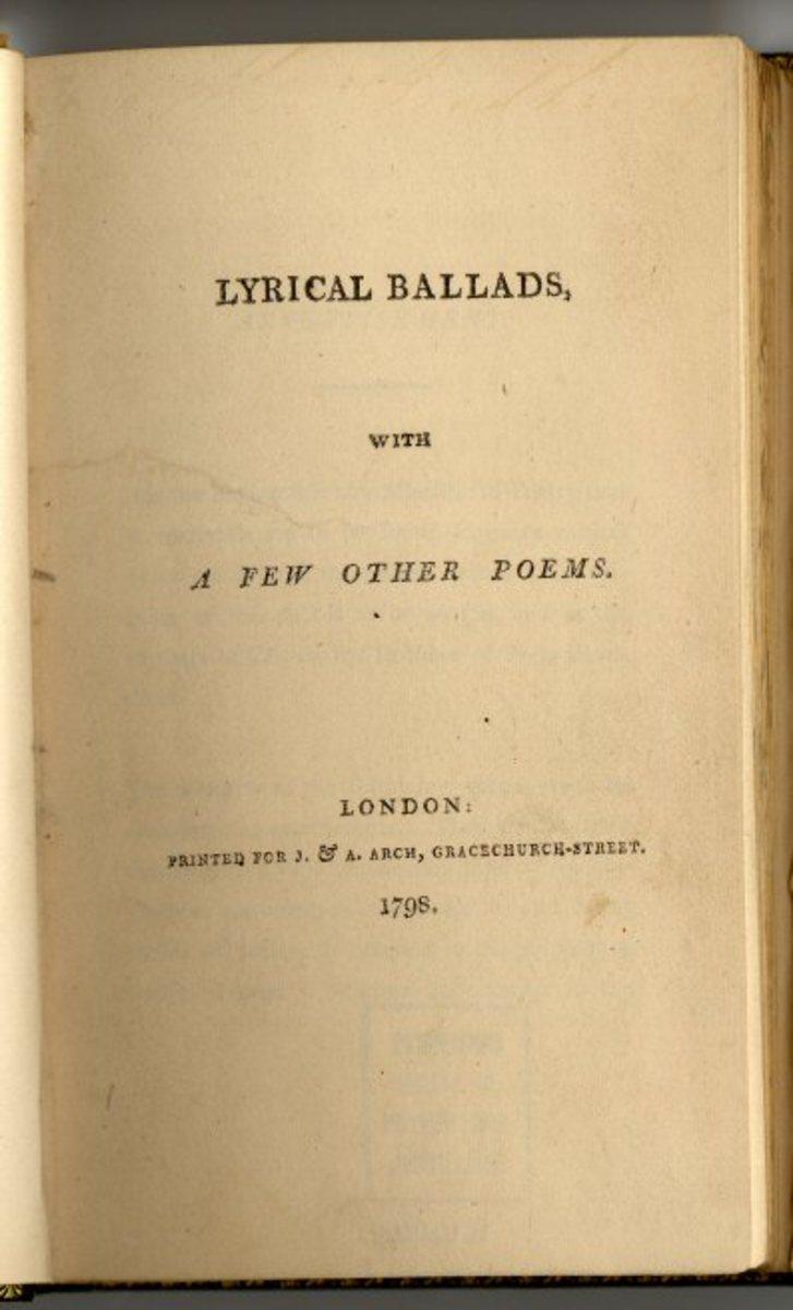 "Title page of ""Lyrical Ballads"""